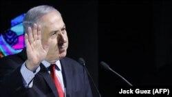 Premijer Benjamin Netanyahu na jednoj koferenciji u Tel Avivu, 14. februara 2018.