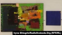 Петро Лебединець, «Присвята». Тіберій Сільваші, «Синя серія» в експозиції виставки