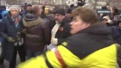 Suporterii Kremlinului împotriva militanților pentru drepturile omului