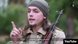 An undated screen grab shows Bosnian Jasmin Keserovic when he was in Syria
