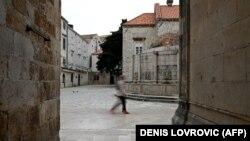 Prazne ulice Straduna, Dubrovnik, 17. svibnja
