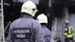 Ліквідація пожежі поблизу станції метро Лівобережна
