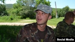 A social-media photo of Maksim Odintsov, one of two soldiers arrested near Crimea by Ukrainian authorities, who accuse them of being military deserters.