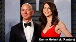 MacKenzie Scott dhe ish-burri i saj, Jeff Bezos. Mars, 2018.