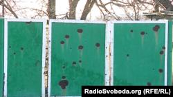 Последствия боевых действий в Мариновке