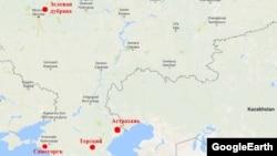 На карте отмечены лепрозории России