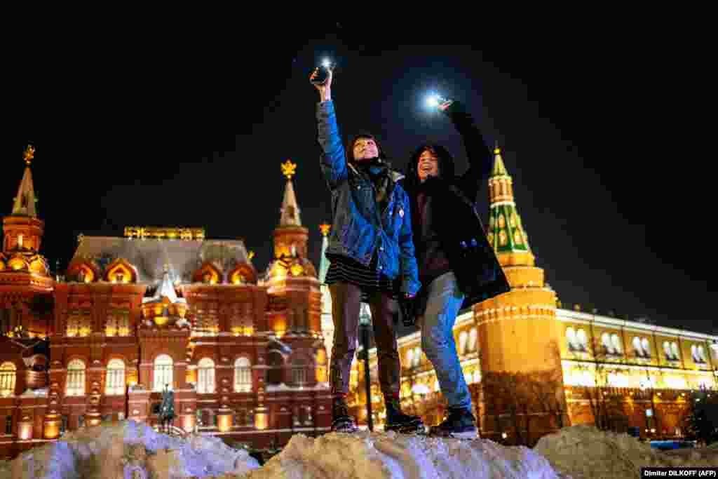 În apropiere de Piața Roșie din Moscova