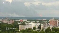 Россия: взрывы боеприпасов на военном складе в Красноярском крае (видео)