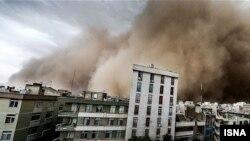 توفان گرد و غبار در تهران. ۲ ژوئن ۲۰۱۴.