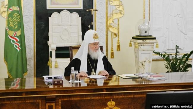 Московський патріарх Кирило під час засідання Синоду РПЦ. Москва, 24 вересня 2021 року