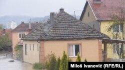 Kuršumlija, poplavljene kuće