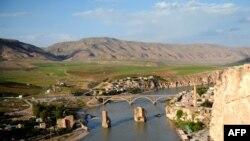 نهر دجلة في الجانب التركي