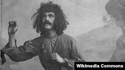 """Hüseynqulu Sarabiski ilk Azərbaycan Məcnunu """"Leyli və Məcnun"""" operası, 1908-ci il."""