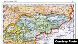 Карта времен СССР, где Ворух значится анклавом