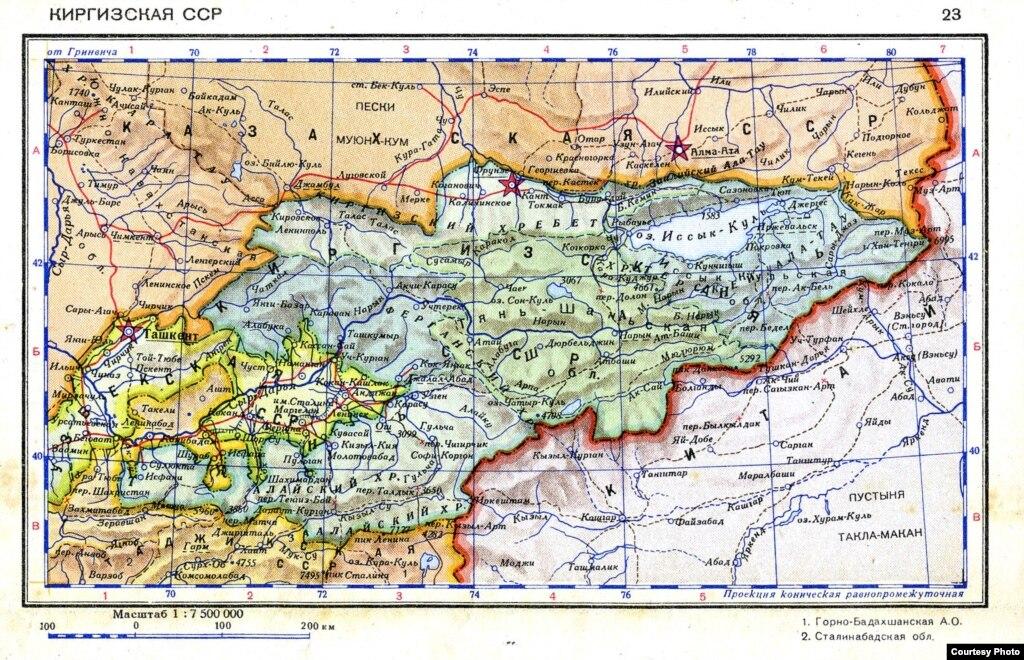 Карта кыргызстана и таджикистана спорные территории
