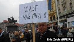 Sa prosvjeda umirovljenika u Zagrebu, 2017.