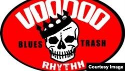 Стикер звукозаписывающего лейбла Voodoo Rhythm, фрагмент