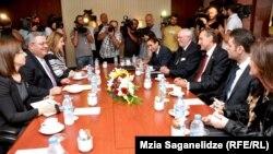 ეუთოს საპარლამენტო ასამბლეის პრეზიდენტის შეხვედრა საქართველოს პარლამენტის თავმჯდომარესთან