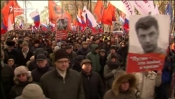 Thousands March In Moscow To Commemorate Slain Kremlin Critic Nemtsov