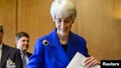 Ведущий американский переговорщик по ядерным объектам Венди Шерман. Женева, 25 июня 2013 года.
