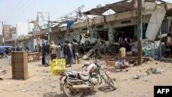 بازار دهیان پس از حمله هوایی به اتوبوس مدرسه