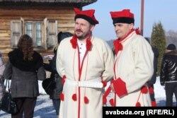 Госьці з Польшчы апрануліся ў строі паўстанцаў Тадэвуша Касьцюшкі