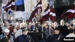 Марш ветеранов СС в Риге в 2011 году. Иллюстративное фото.