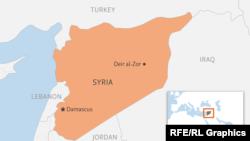 موقعیت استان دیرالزور در نقشه سوریه