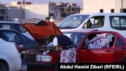 سيارات في اربيل بانتظار الحصوص على البنزين