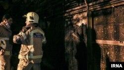 عکسی که خبرگزاری ایرنا در خبر انفجار باقرشهر استفاده کرده است