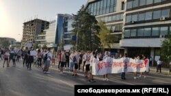 Средношколски протест против целосна онлајн настава за учебната година 2020/2021