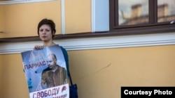 Пикет в Санкт-Петербурге в поддержку Андрея Пивоварова, август 2015 года