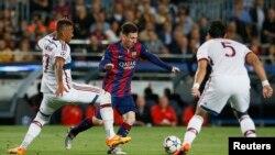 """""""Барселона"""" - """"Бавария"""" беттешүүсү. 6-май, 2015. Иллюстрациялык сүрөт."""