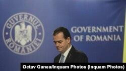 Prim-ministrul Ludovic Orban