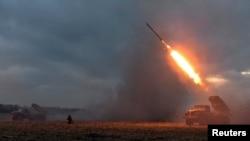 Робота української артилерії в районі Дебальцевого, 8 лютого 2015 року