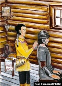 Иллюстрация к мансийской сказке