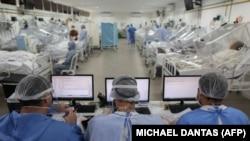 د برازیل یوه روغتون برازیل کې د کرونا ویروس پېښې په زیاتېدو د