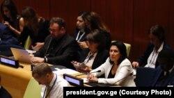Выступление Зурабишвили в Нью-Йорк стало первым выступлением президента Грузии за последние пять лет