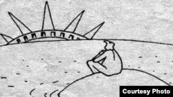 Rəşid Şerif, karikatura
