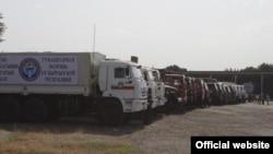 Автоколонна с гуманитарным грузом из Кыргызстана для пострадавших от стихийных бедствий районов Таджикистана.
