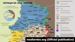 Ситуация в зоне боевых действий на Донбассе, 16 декабря 2017 год