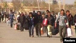 بازگشت گروهی از مهاجرین افغان از ایران