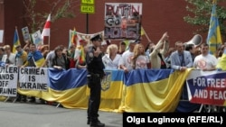 Протест проти приїзду президента Росії Володимира Путіна в Нью-Йорку, 27 вересня 2015 року
