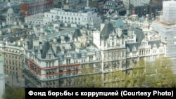 The London apartment that is at the center of a controversy surrounding Russian First Deputy Prime Minister Igor Shuvalov (marked in red)