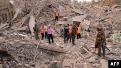 Алеппо после взрыва, 3 октября 2012 г.