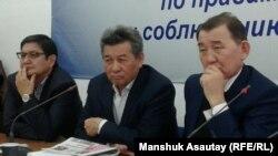Участники пресс-конференции международной конференции «Историческое и международное значение Декабрьского (1986) восстания в Казахстане». Алматы, 15 декабря 2016 года.