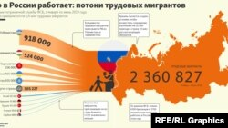 Rusiyada işçi miqrantlar (infoqrafika)