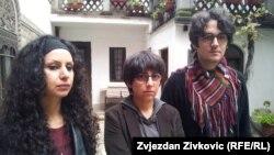 S lijeva na desno: Maryam Sheikh, Elham Malekpour i Babak Salimzadeh, Sarajevo, 2015.