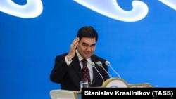 Turkmen President Gurbanguly Berdymukhammedov in 2018