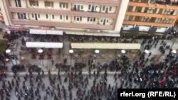 Pamje nga protesta e 24 janarit